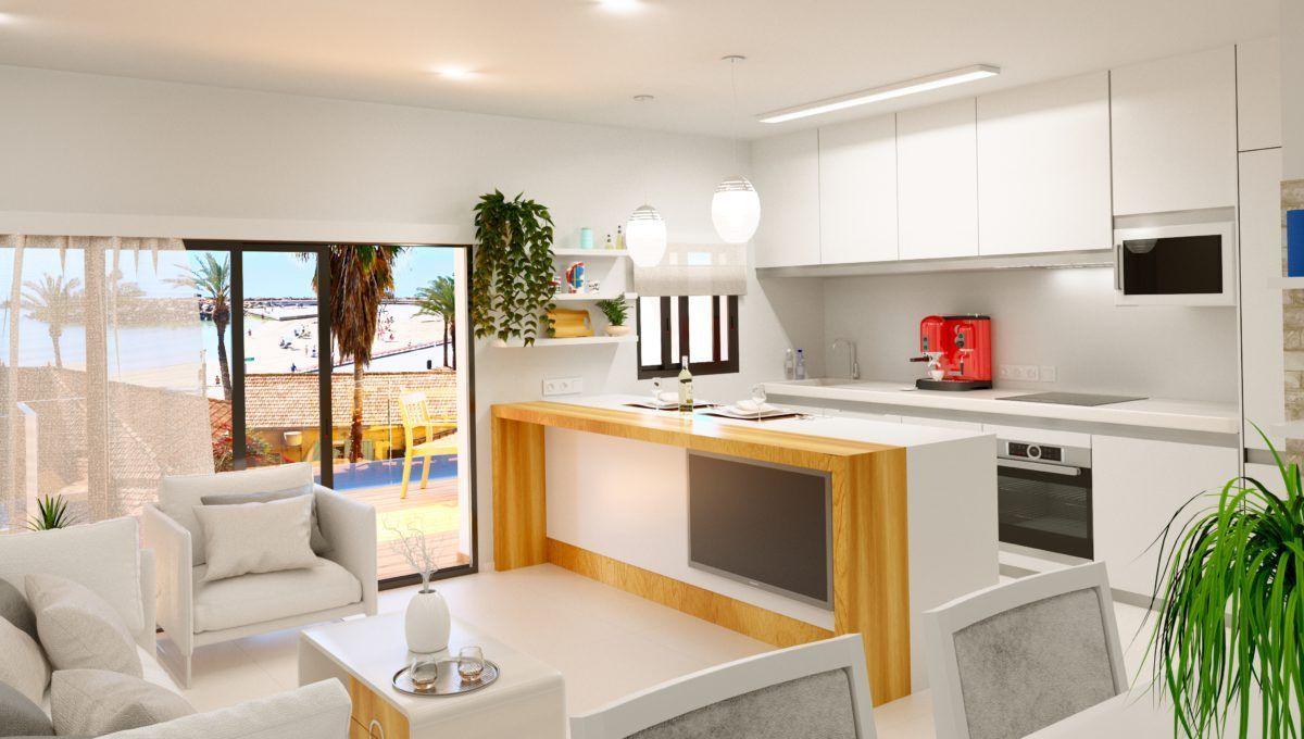 Apartamentos de obra nueva al pie de la playa Del Cura en Torrevieja